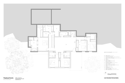 Dossier de presse | 1572-02 - Communiqué de presse | Long Horizontals - Thellend Fortin Architectes - Residential Architecture - walk-out plan - Crédit photo : Thellend Fortin Architectes