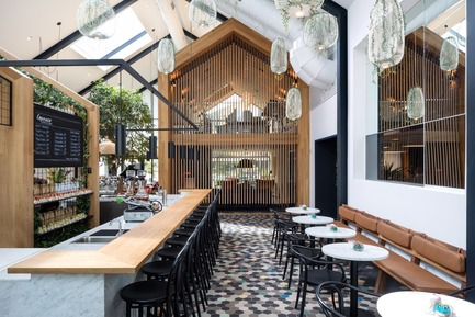 Press kit | 661-52 - Press release | INSIDE World Festival of Interiors Announces Day TwoWinners from RAI Amsterdam - INSIDE: World Festival of Interiors - Competition - Bars & Restaurant Winners: Harrison Urby – Entrance Café by Concrete - Photo credit: Concrete