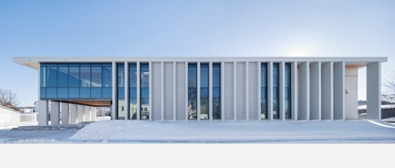 Press kit | 1172-07 - Press release | Rigaud City Hall - Affleck de la Riva architects - Institutional Architecture - Rigaud City Hall - North Elevation - Photo credit: Adrien Williams