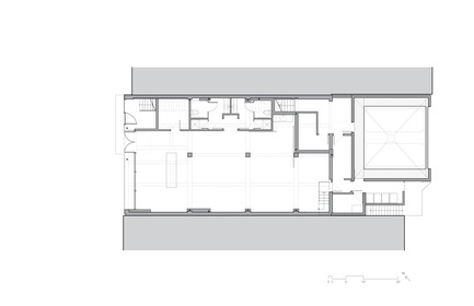 Dossier de presse | 780-05 - Communiqué de presse | Van Horne - Paul Bernier Architecte - Residential Architecture - Ground floor plan - Crédit photo : Paul Bernier Architecte