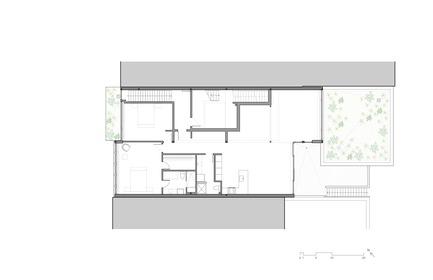 Dossier de presse | 780-05 - Communiqué de presse | Van Horne - Paul Bernier Architecte - Residential Architecture - Second floor plan - Crédit photo : Paul Bernier Architecte
