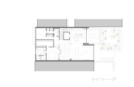 Dossier de presse | 780-05 - Communiqué de presse | Van Horne - Paul Bernier Architecte - Residential Architecture - Third floor plan - Crédit photo : Paul Bernier Architecte