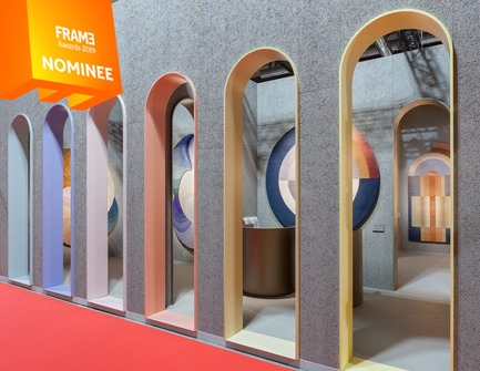 Press kit | 3160-03 - Press release | Announcing the Nominees of the Frame Awards 2019 - Frame - Competition - Trade Fair Stand of the Year<br> - Photo credit: CC-TAPIS STAND, Studio MILO