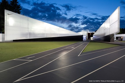 Press kit | 883-04 - Press release | AIA Northwest and Pacific Region Awards 16 projects for design excellence - The American Institute of Architects (AIA) - Competition -  Citation Award<br>Nike Olympic Trials Pavilion, Eugene, OR<br>Skylab Architecture