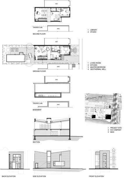 Dossier de presse | 3211-01 - Communiqué de presse | Ice Shore House - INDESIGN inc CONRATH architecte - Residential Architecture - Site and project plans and elevations - Crédit photo : Indesign