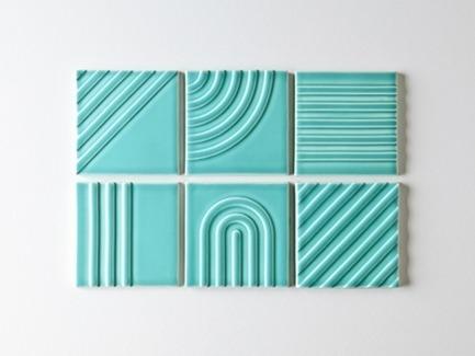 Dossier de presse | 3895-01 - Communiqué de presse | Signal Tile - Kristine Morich X Clayhaus Modern Tile - Produit - Signal Tile | Kristine Morich X Clayhaus Modern Tile | Collection Overview | Lo-res - Crédit photo : Ian Stout