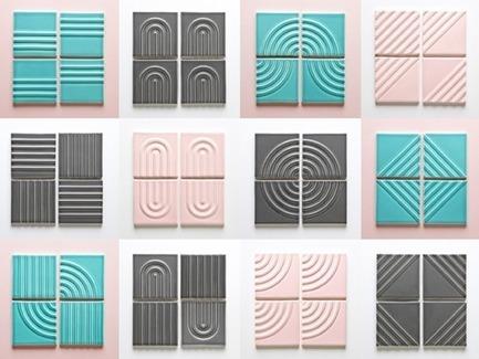 Dossier de presse | 3895-01 - Communiqué de presse | Signal Tile - Kristine Morich X Clayhaus Modern Tile - Produit - Signal Tile | Kristine Morich X Clayhaus Modern Tile | Pattern Guide | Lo-res - Crédit photo : Ian Stout
