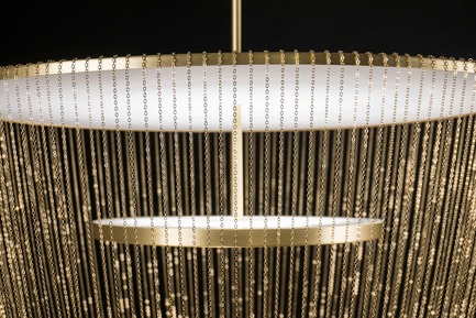 Press kit | 2110-06 - Press release | Stellar Design of Larose Guyon's Céleste Captures the Spiritual Essence of Light - Larose Guyon - Lighting Design - Celeste - Brass - Photo credit: Larose Guyon