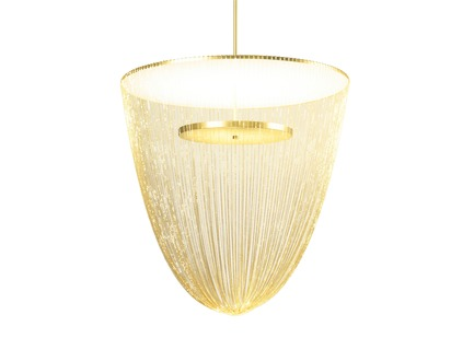 Press kit | 2110-06 - Press release | Stellar Design of Larose Guyon's Céleste Captures the Spiritual Essence of Light - Larose Guyon - Lighting Design - Celeste Large - Brass - Photo credit: Larose Guyon