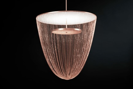 Press kit | 2110-06 - Press release | Stellar Design of Larose Guyon's Céleste Captures the Spiritual Essence of Light - Larose Guyon - Lighting Design - Celeste Large - Copper - Photo credit: Larose Guyon