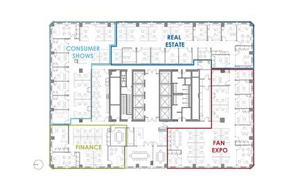 Press kit | 1513-02 - Press release | Informa Toronto - Dubbeldam Architecture + Design - Commercial Interior Design - Office floor plan - Photo credit: Dubbeldam Architecture + Design