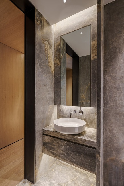Press kit | 2718-01 - Press release | Jing'an Prime Land - Mason Studio - Residential Interior Design -   Townhouse A: powder room<br> - Photo credit: Seth Powers