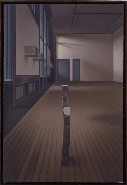 Dossier de presse | 701-08 - Communiqué de presse | Pierre Dorion et Janet Biggs au MAC - Musée d'art contemporain de Montréal (MAC) - Évènement + Exposition - 101 Spring Street, 1997Pierre Dorion Huile sur toile de lin Collection particulière
