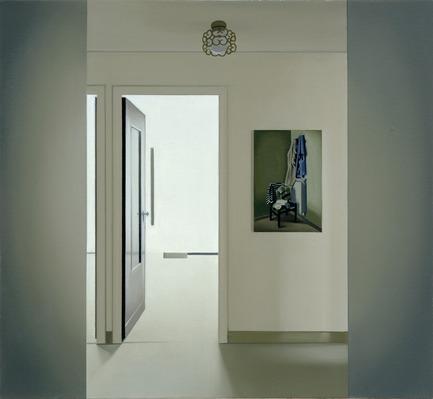 Press kit | 701-08 - Press release | Pierre Dorion et Janet Biggs au MAC - Musée d'art contemporain de Montréal (MAC) - Évènement + Exposition - Vestibule (Chambres avec vues) , 2000Pierre Dorion Huile sur toile Collection de Richard-Max Tremblay