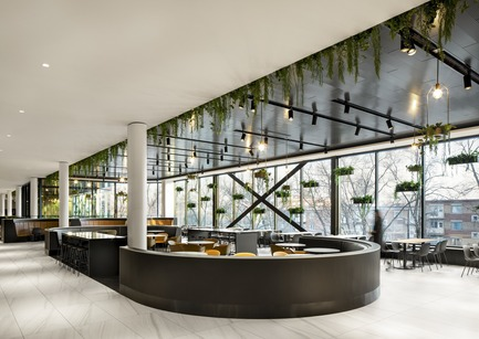 "Dossier de presse | 1081-06 - Communiqué de presse | ""La Cuisine"": Rockland Center's Culinary Experience - Architecture49 + Humà Design+Architecture - Commercial Interior Design - Rockland - Solarium. - Crédit photo : Adrien Williams"