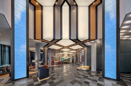 Dossier de presse | 1472-02 - Communiqué de presse | Hotel Andaz - concrete - Commercial Interior Design -  The lobby<br>  - Crédit photo : Wouter van der Sar for concrete<br>