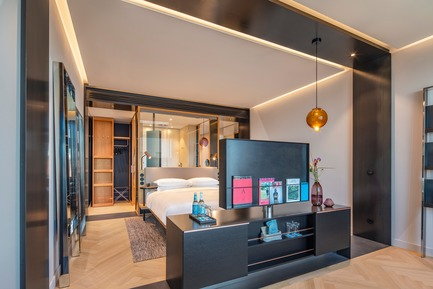 Dossier de presse | 1472-02 - Communiqué de presse | Hotel Andaz - concrete - Commercial Interior Design - The room<br> - Crédit photo : Wouter van der Sar for concrete