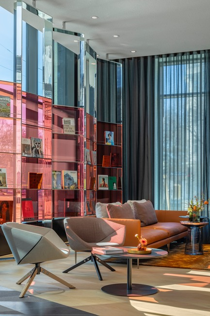 Dossier de presse | 1472-02 - Communiqué de presse | Hotel Andaz - concrete - Commercial Interior Design -  The lobby<br>  - Crédit photo : Wouter van der Sar for concrete