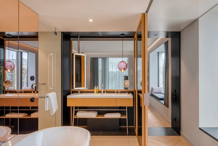 Dossier de presse | 1472-02 - Communiqué de presse | Hotel Andaz - concrete - Commercial Interior Design - The suite<br> - Crédit photo : Wouter van der Sar for concrete