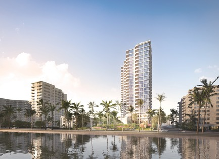 Dossier de presse | 907-06 - Communiqué de presse | La Clara Groundbreaking - Hariri Pontarini Architects - Residential Architecture - View From Water - Crédit photo : Hariri Pontarini Architects