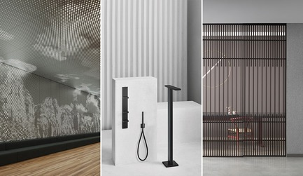 Dossier de presse | 809-27 - Communiqué de presse | Meet the Finalists of the 2019 AZ Awards - AZURE - Competition - <b><i>Architectural Products</i></b><br><br><b>Arktura: </b>Vapor Graphic Perf<br><b><br>Aboutwater from Boffi and Fantini:</b> AK/25 by Paik Sun Kim<br><br><b>Lualdi:</b> Koan Sliding System KokaiStudios<br> - Crédit photo : AZURE