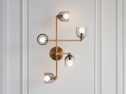 Dossier de presse | 1665-03 - Communiqué de presse | Lightmaker Studio Reimagines the Wall Sconce at ICFF 2019 in New York City - Lightmaker Studio - Lighting Design - Parallel - Crédit photo : Lisa Petrole