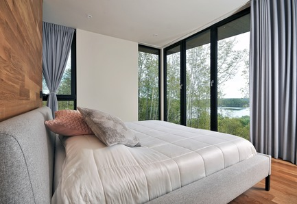 Press kit | 3463-02 - Press release | Up There ! - ESPACE VITAL architecture - Residential Architecture - Master bedroom<br> - Photo credit: Stéphane Lemire<br>
