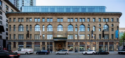 Dossier de presse | 1387-06 - Communiqué de presse | Birks Hotel: A St-Catherine Street Jewel Restored - NEUF architect(e)s - Architecture commerciale - Crédit photo :  Adrien Williams