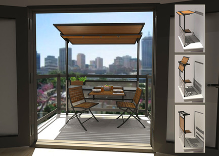 Dossier de presse | 974-03 - Communiqué de presse | Alcoa Canada design contest finalists unveiledTable set for the grand finale! - Alcoa Canada Groupe Produits primaires - Concours - Coin-repas bien pensé pour balcon de villeBalcony eating area unit for urban dwellers