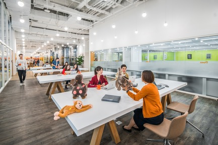 Dossier de presse | 3593-02 - Communiqué de presse | SOHO 3Q Coworking Spaces:the Story of Creating the First CoworkingSpaces in China - anySCALE Architecture Design - Design d'intérieur commercial -   SOHO 3Q ZHONGSHAN PLAZA   - Crédit photo :  CreatAr