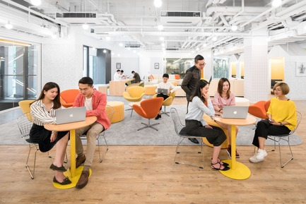 Dossier de presse | 3593-02 - Communiqué de presse | SOHO 3Q Coworking Spaces:the Story of Creating the First CoworkingSpaces in China - anySCALE Architecture Design - Design d'intérieur commercial -  SOHO 3Q FUXING PLAZA C  - Crédit photo : CreatAR