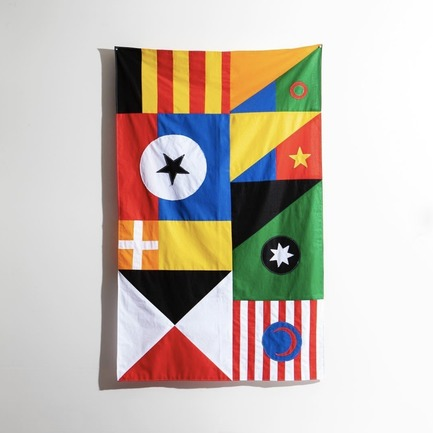"Press kit | 2949-04 - Press release | San FranciscoDesign WeekDebuts ""CommUNITY"" Exhibit and Silent Auction - San Francisco Design Week - Competition - Flag by Garbett (Australia)<br> - Photo credit: Garbett"