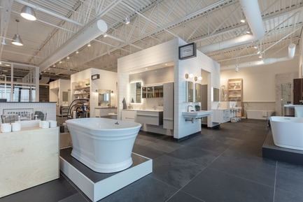 Press kit | 846-29 - Press release | Céragrès opens a Laval location, its biggest Boutique Workspace in Canada - Ceragres - Commercial Interior Design - Photo credit: Céragrès