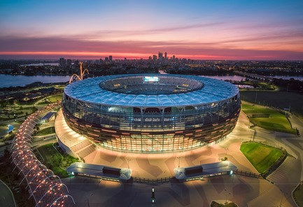 Press kit | 3862-01 - Press release | Fifth edition: The Prix Versailles celebrates the world's most beautiful campuses, passenger stations and sports facilities - Secretariat of the Prix Versailles - Lifestyle - Optus Stadium - Photo credit: Optus Stadium