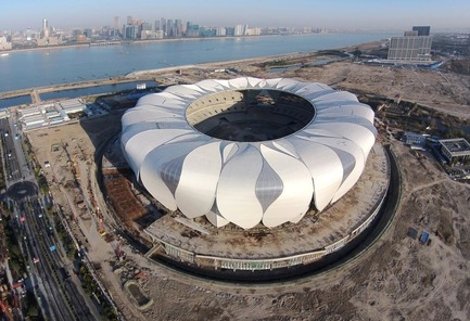 Press kit | 3862-01 - Press release | Fifth edition: The Prix Versailles celebrates the world's most beautiful campuses, passenger stations and sports facilities - Secretariat of the Prix Versailles - Lifestyle - Hangzhou Sports Park Stadium - Photo credit: Hangzhou Sports Park Stadium