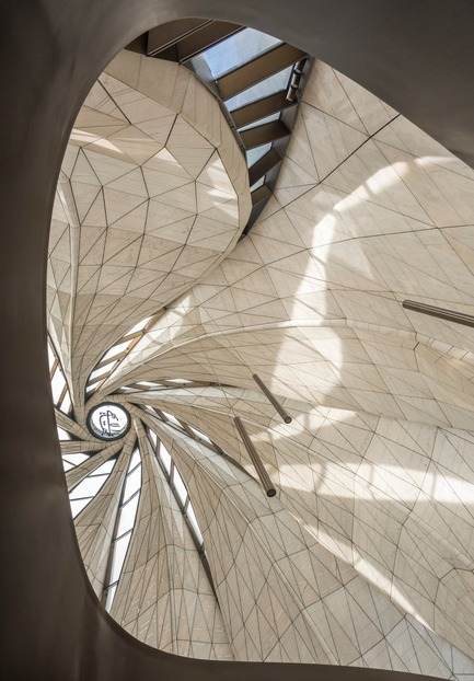 Dossier de presse | 907-07 - Communiqué de presse | RAIC Shortlist - Bahá'í Temple of South America - Hariri Pontarini Architects - Concours - View of Oculus - Crédit photo :  Guy Wenborne