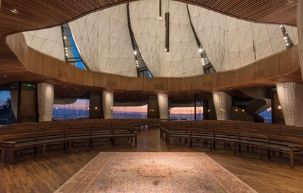 Dossier de presse | 907-07 - Communiqué de presse | RAIC Shortlist - Bahá'í Temple of South America - Hariri Pontarini Architects - Concours - Temple Interior - Crédit photo :  Sebastián Wilson León