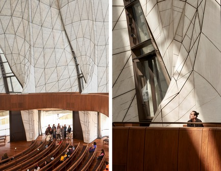 Dossier de presse | 907-07 - Communiqué de presse | RAIC Shortlist - Bahá'í Temple of South America - Hariri Pontarini Architects - Concours - Light Peering into the Temple - Crédit photo : doublespace photography