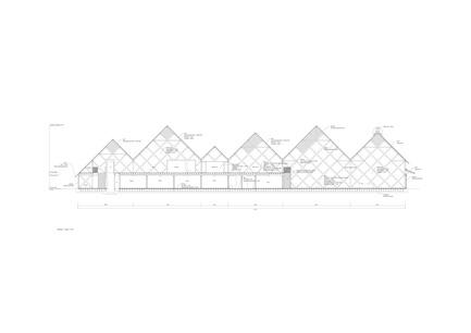 Dossier de presse | 3544-01 - Communiqué de presse | Tomioka Chamber of Commerce and Industry - Tezuka Architects - Architecture institutionnelle - Section S:1/150 - Crédit photo : Tezuka Architects