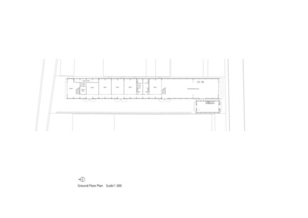 Press kit | 3544-01 - Press release | Tomioka Chamber of Commerce and Industry - Tezuka Architects - Institutional Architecture - Ground Floor Plan S:1/300 - Photo credit: Tezuka Architects