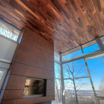 Dossier de presse | 1536-01 - Communiqué de presse | La Poudreuse - Luc Plante architecture + design - Architecture résidentielle - La Poudreuse - Crédit photo : Jean-Guy Lambert photographe