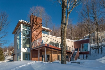 Press kit | 1536-01 - Press release | Powder snow - Luc Plante architecture + design - Residential Architecture - Powder snow - Photo credit: Jean-Guy Lambert photographer