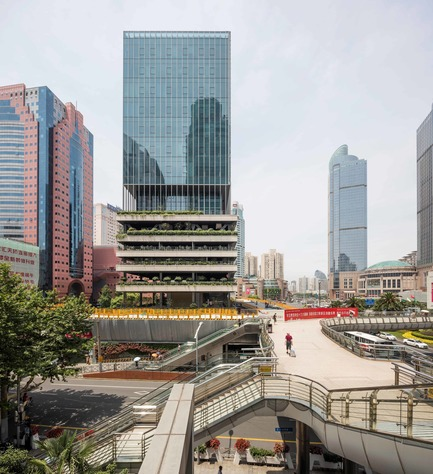 Press kit | 1799-03 - Press release | An urban oasis on Shanghai's busiest intersection - Jacques Ferrier Architecture and Sensual City Studio - Commercial Architecture - Photo credit:  Jacques Ferrier Architecture / Photo Luc Boegly