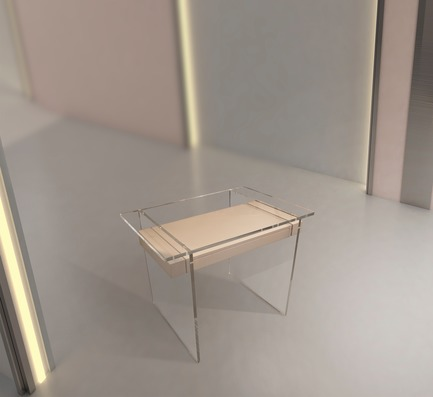 "Dossier de presse | 3917-03 - Communiqué de presse | FORMITABLE©Collection - Wael Farran Studio - Produit -  <p style="""">                CASPER - CUSTOM MADE <br>              Deco inspired desk made out of Plexiglas and lacquered wood. <br>PIECE DIMENSIONS: W: 70cm L: 120cm H: 75cm </p>  - Crédit photo :                WAEL KHOURY PHOTOGRAPHY"