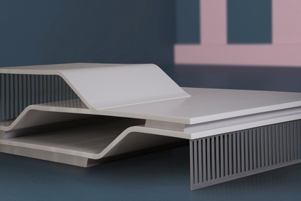 "Press kit | 3917-03 - Press release | FORMITABLE©Collection - Wael Farran Studio - Product -   ELEVATIONS -  COFFEE TABLE <p class="""" style="""">Elevations are a means to optimize an area, expand its use and allow it to live up to its full potential. From a spiritual perspective, an elevated state is when one is connected and at peace, which allows the individual to be at their full potential as well. Made of white lacquered wood, Elevations also lives up to its potential at it maximizes its use through the various levels it offers. Two steel grids, one serving as a base, the other as a decorative element bring power to the design. <br>PIECE DIMENSIONS: W: 100cm L: 160cm H: 20/27.5/45cm  </p> - Photo credit: WAEL KHOURY PHOTOGRAPHY"