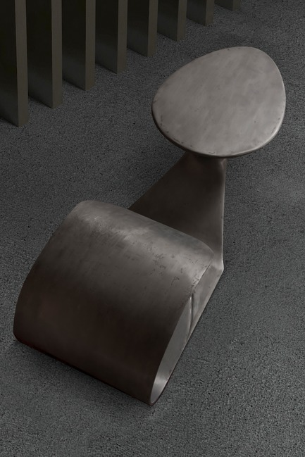 "Press kit | 3917-03 - Press release | FORMITABLE©Collection - Wael Farran Studio - Product -  THRUST -  COFFEE TABLE <p class="""" style="""">Thrust is a call to understand the sexuality taboo so it will no longer be a taboo. Sex is a natural act, a pleasurable act not a bad sinful act. Humanity has created an aura around it, to protect itself from overpopulation and from diseases. However, in current times, these can be controlled within the sexual act itself; hence sex should no longer be taboo. Thrust is about letting go of the taboo and embracing the beauty and pleasure of sexuality. Made of 2 components, Thrust mimics the sexual act. The Male element, composed of resin covered with iron melted powder mounts the Female element, composed of resin with silver leaf paper and hand patina. <br>PIECE DIMENSIONS: W: 195 cm D: 90cm H: 50 cm. </p> - Photo credit: WAEL KHOURY PHOTOGRAPHY"