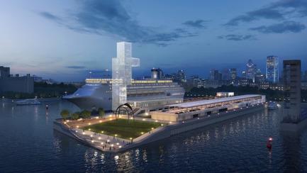 Dossier de presse | 952-27 - Communiqué de presse | Grand Quai du Port de Montréal: un nouveau terminal de croisière et une promenade sur l'esplanade verte - Provencher_Roy - Design urbain - Grand Quai du Port de Montréal en 2021 - Crédit photo : Provencher_Roy