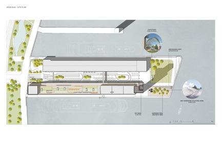 Dossier de presse | 952-27 - Communiqué de presse | Grand Quai du Port de Montréal: un nouveau terminal de croisière et une promenade sur l'esplanade verte - Provencher_Roy - Design urbain - Plan - Crédit photo : Provencher_Roy