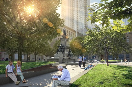Press kit | 952-28 - Press release | Sainte-Catherine St. West, Phillips Square and Place du Frère-André: uniting past and present - Provencher_Roy - Urban Design - Square Philips - Photo credit: Provencher_Roy