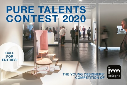 Press kit | 2704-07 - Press release | Call for Entries: the Starting Signal for the 17th Pure Talents Contest of imm cologne - imm cologne 2020, Koelnmesse GmbH - Event + Exhibition - Logo Pure Talents Contest 2020 horizontal format - Photo credit: Koelnmesse
